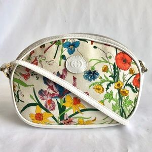Gucci Vintage Flora insect Crossbody Bag